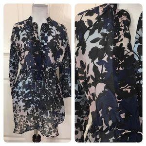 Diane Von Furstenburg floral tunic top
